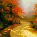 kinkade_-_autumn_lane
